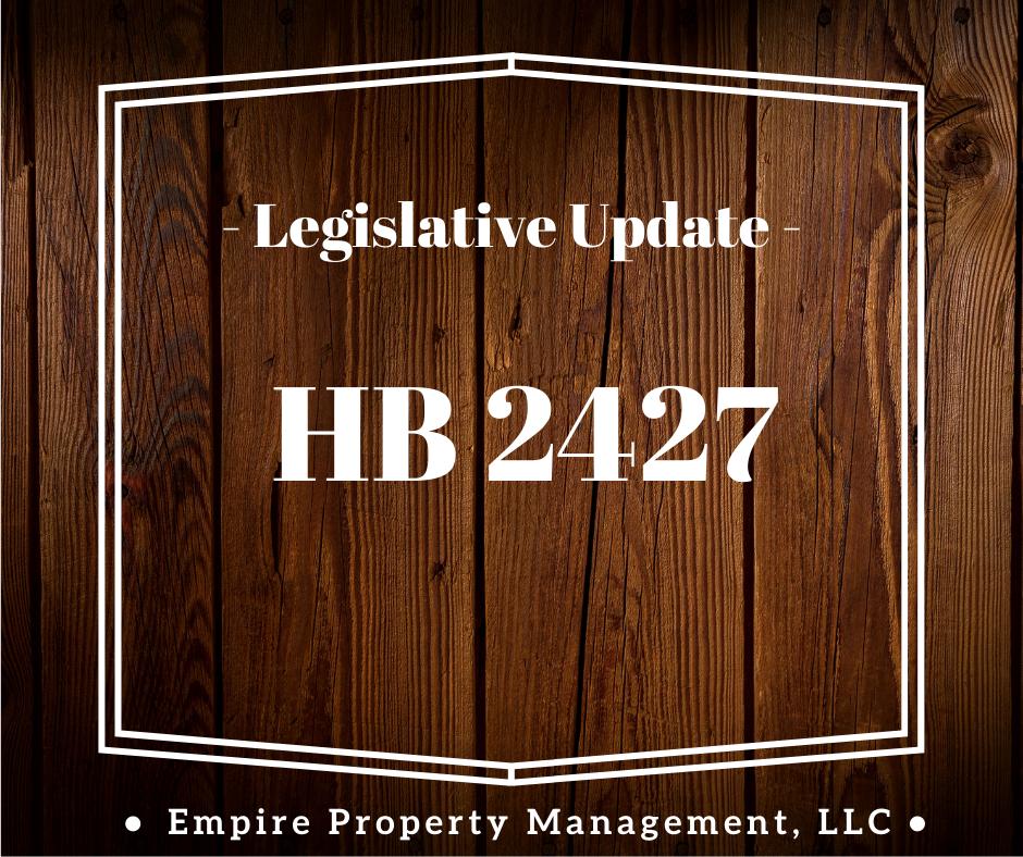 Legislative Update- House Bill 2427